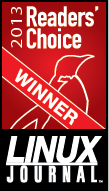 Linux Journal Readers Choice Award 2013