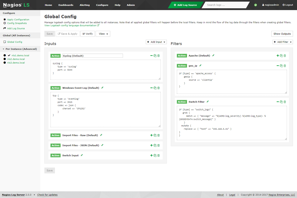 Nagios Log Server - Central Log Management & Monitoring